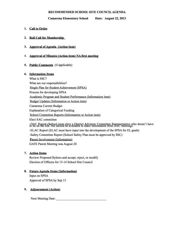 SSC Agenda 2013-08-22