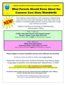 Common Core Parents