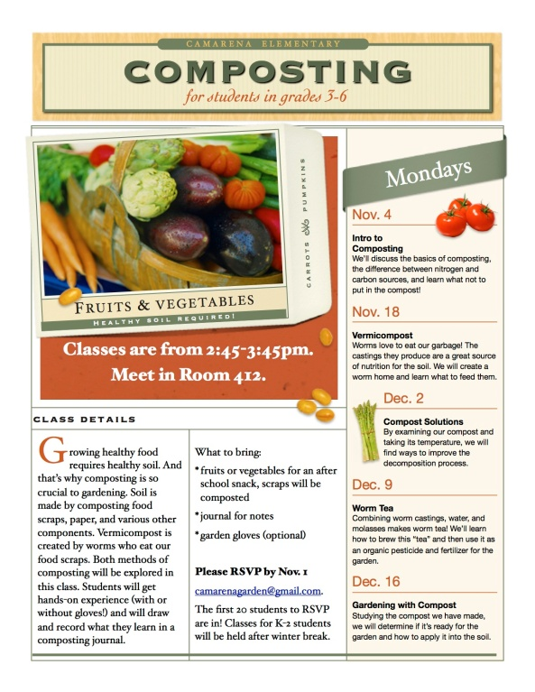 composting class flyer