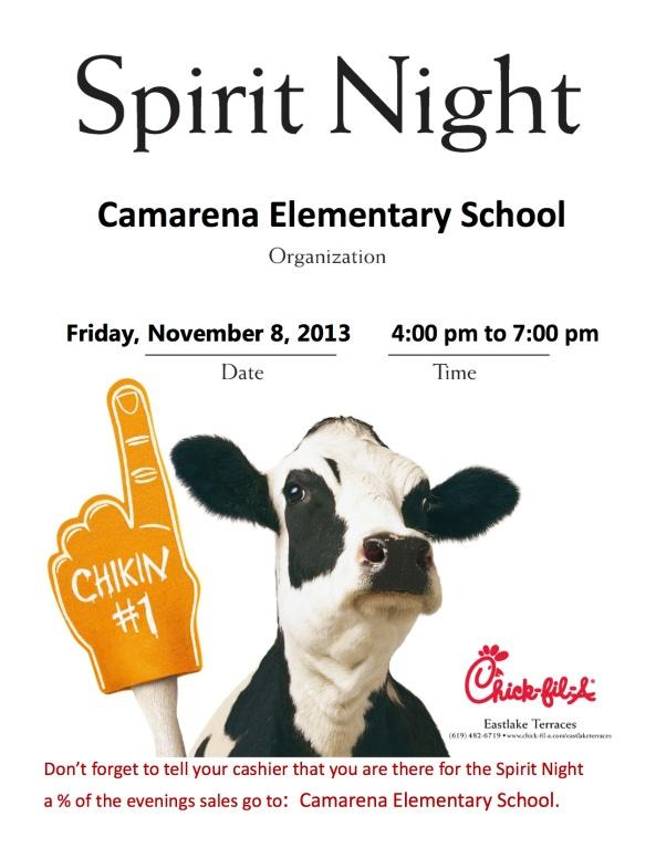 Cow Spirit Night Camarena Elementary 2