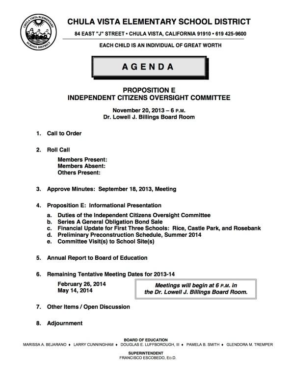 ICOC 11-20-2013 Agenda
