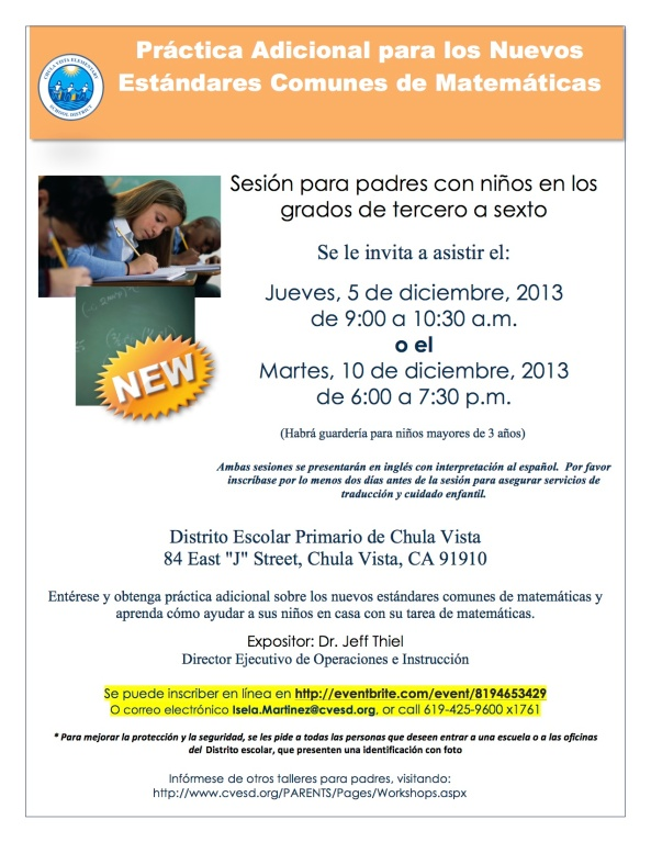 Addl Common Core Sept 2013 3-6th grade- Spanish Updated