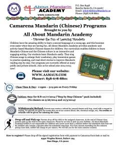 Mandarin Fall Session-2014-2015