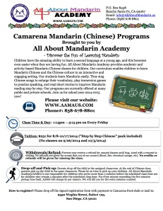 Mandarin Fall Session-2014-2015