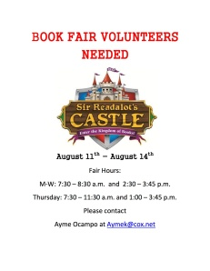fall book fair volunteers