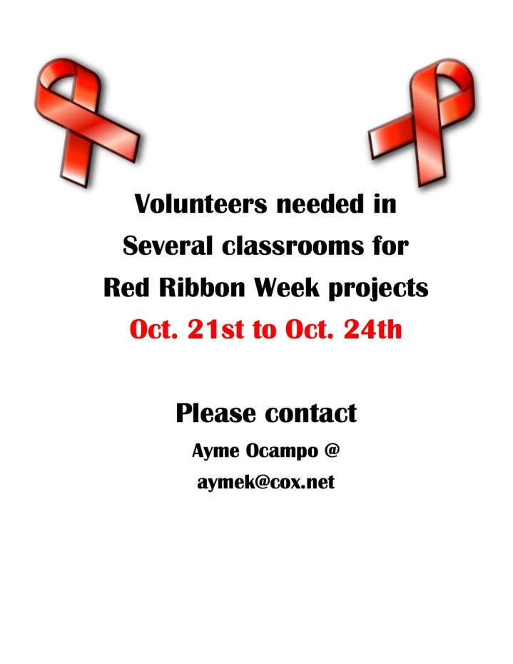 red ribbon week volunteers