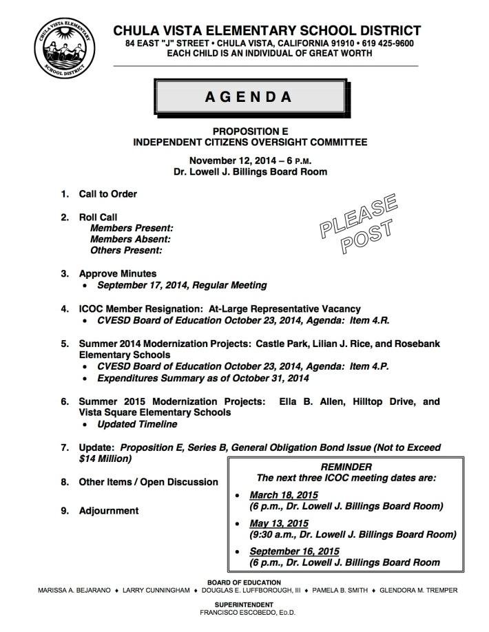 ICOC 11-12-2014 Agenda (Please Post)