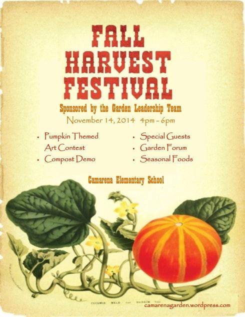 pumpkin harvest flyer