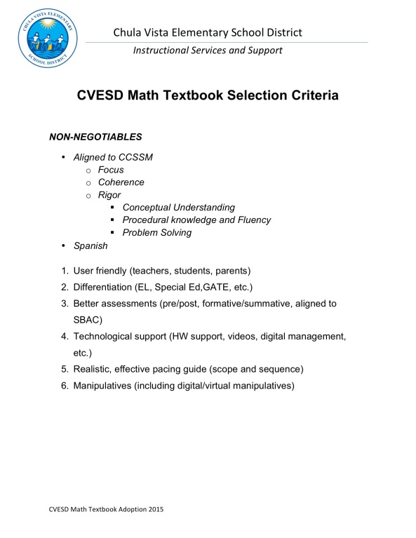 CVESD Math Textbook Selection Criteria-1