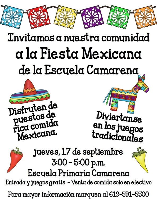 Fiesta Mexicana Flyer Spanish